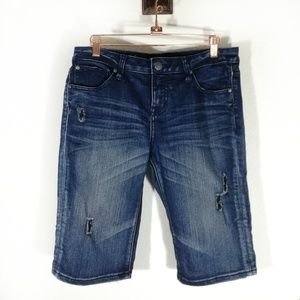 Volcom Distressed Boyfriend Relaxed Jean Shorts